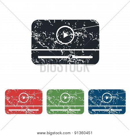 Mediaplayer grunge icon set