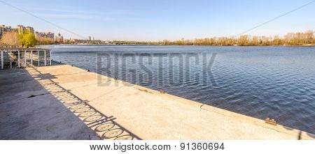 Jetty On The Dnieper River