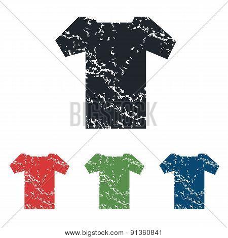 T-shirt grunge icon set