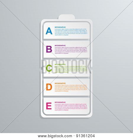 Creative Paper Technology Infographic Business Concept. Vector Illustration.
