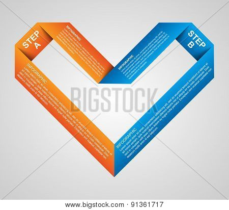 Abstract paper options infographic template. Design element.