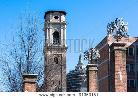 The Bell Tower of the Turin Cathedral