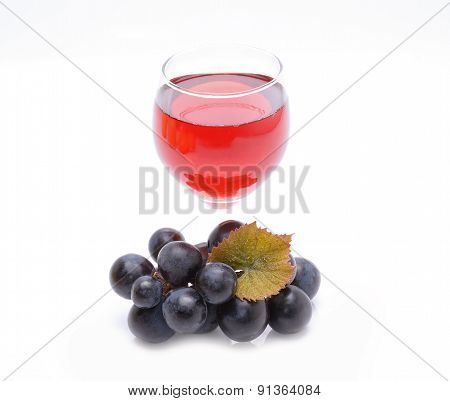 Glass of grapes juice