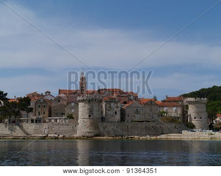 The St Marco in the old city Korcula