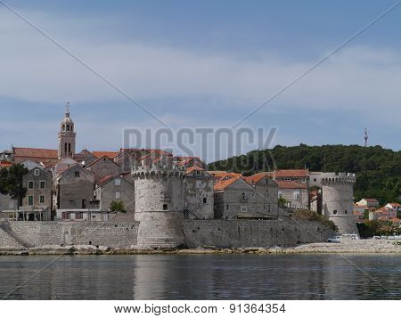 Korcula old town with the St marco