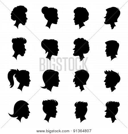 Silhouettes, profiles