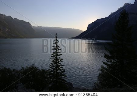 Lake Minnewanka at Sunrise