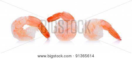 Shrimp Isolated On The White Background