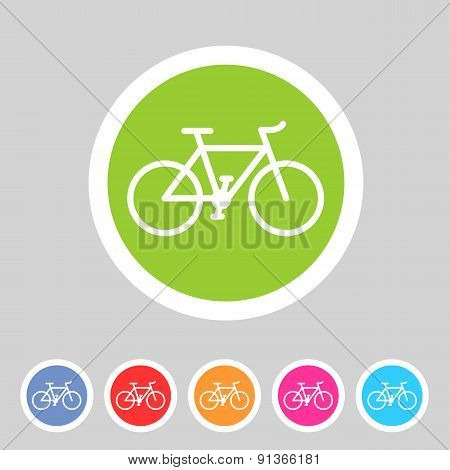 bicycle icon sign symbol logo label set