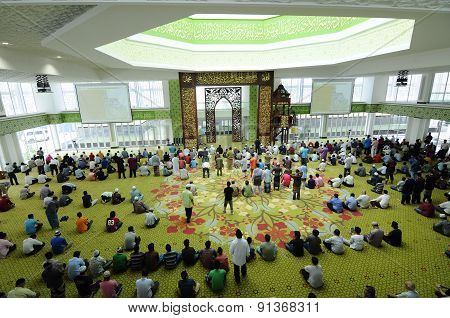 Raja Haji Fi Sabilillah Mosque a.k.a Cyberjaya Mosque in Cyberjaya, Malaysia