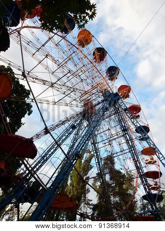 Ferris wheel at the attraction park
