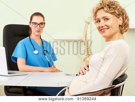 Woman Doctor With A Patient In Treatment