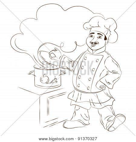 Cheerful Chef Character