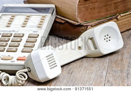 Handset Of Old Telephone