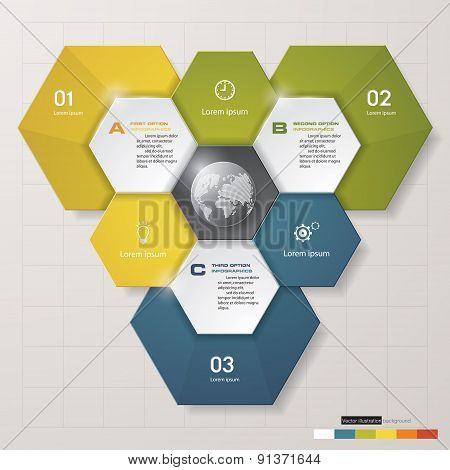 Design clean number banners template/graphic or website layout. 3 steps chart.