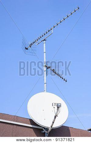 Tv Aerial And Satellite Dish