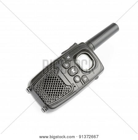 Black Personal Radio isolated on white
