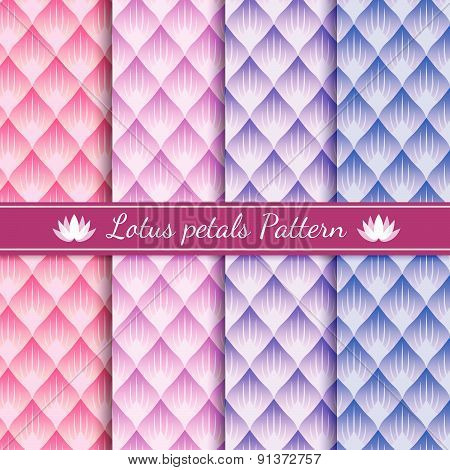 lotus petals abstract pattern background 4 tone color