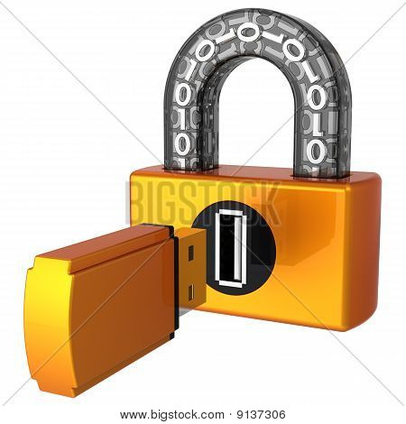 Data security. Digital Usb lock (Hi-Res)