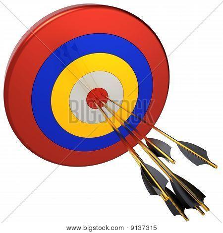 Hit a target. Success concept (Hi-Res)