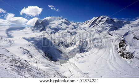 Snow Alps Mountains Scenic And Blue Sky