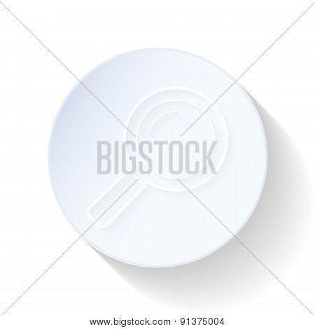 Magnifying Glass Thin Lines Icon