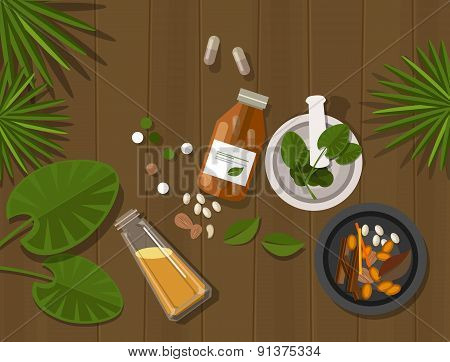 herbal natural medication health nature healing