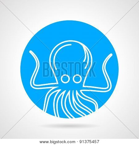 Octopus abstract round vector icon