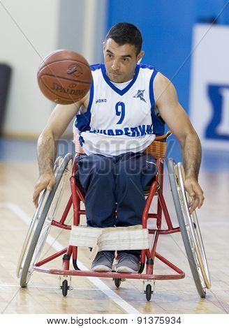 Basketball In Wheelchairs For Physically Disabled Players