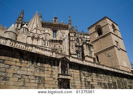 Catedral De Santa Maria Of Plasencia. Spain