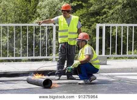 Highway Workers Waterproof Bridge Welding Torch Fire