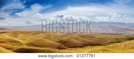 Desert hills in Tibet