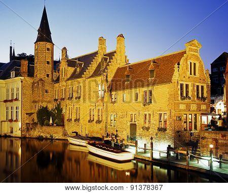 Canalside building, Bruges.