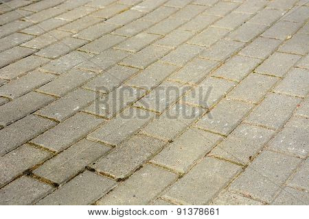 Brick Road. Picture Can Be Used As A Background