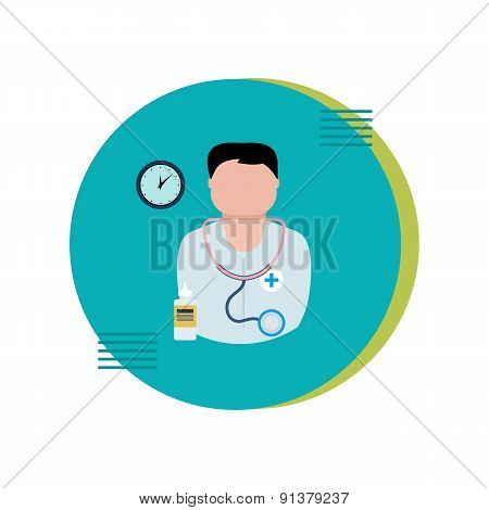 Flat design modern vector illustration concept for health care and medical help.