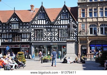 Town centre shops, Shrewsbury.