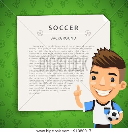 Green Background with Soccer Player