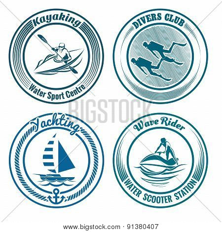 Water Sport Stamp set