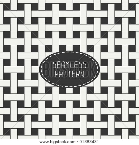 Geometric seamless pattern with intertwined bands. Wrapping paper. Paper for scrapbook. Tiling. Beau