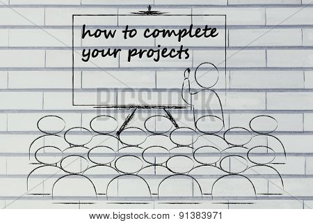 Seminar Or School Class With Mentor Teaching How To Complete Your Projects