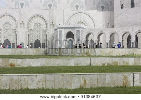 Side View Of The Mosque Of Hassan Ii