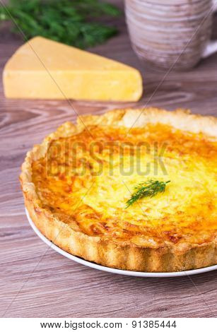 Cheese And Fennel Quiche