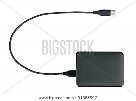 Black External Hard Drive