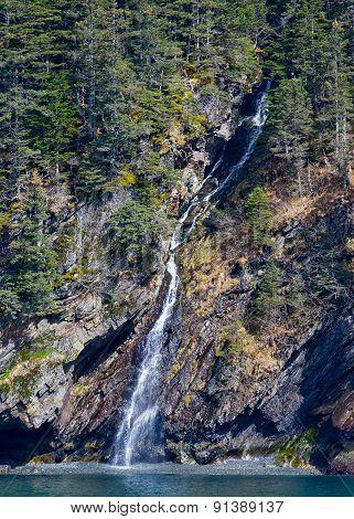 Waterfall On Rockwall