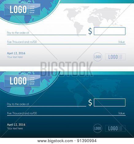 Bank check illustration design