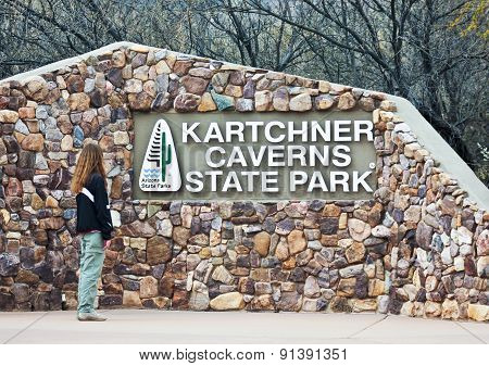 An Entrance Sign, Kartchner Caverns, Benson, Arizona