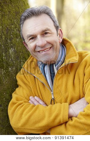 Portrait mature man outdoors