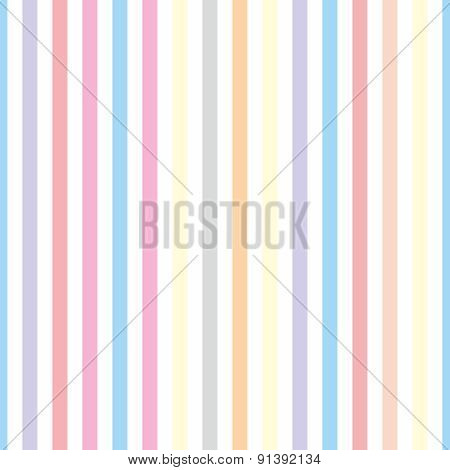 Seamless pastel stripes vector background or tile pattern illustration