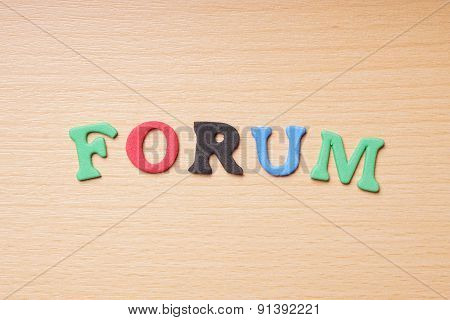 forum in foam rubber letters