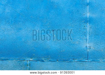 Wall Painted Bright Blue Background